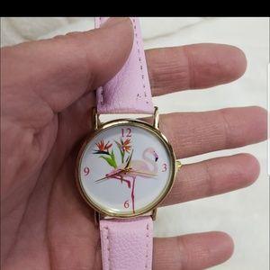 Accessories - NEW Pink Flamingo women's wrist watch